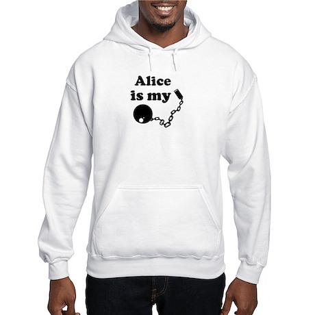 Alice (ball and chain) Hooded Sweatshirt