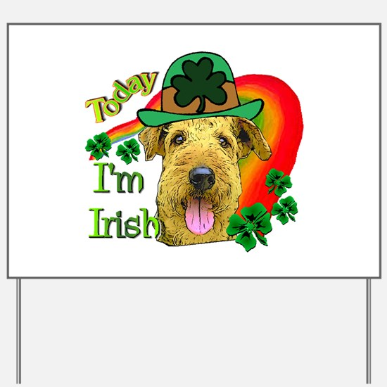 St. Patricks Airedale Yard Sign