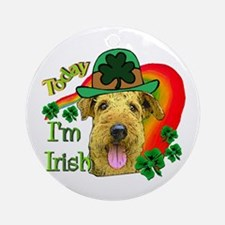 St. Patricks Airedale Ornament (Round)
