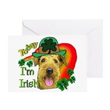 St. Patricks Airedale Greeting Card