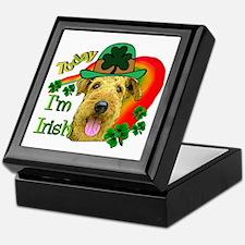 St. Patricks Airedale Keepsake Box
