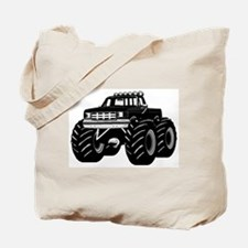 BLACK MONSTER TRUCK Tote Bag