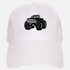 BLACK MONSTER TRUCK Baseball Baseball Cap