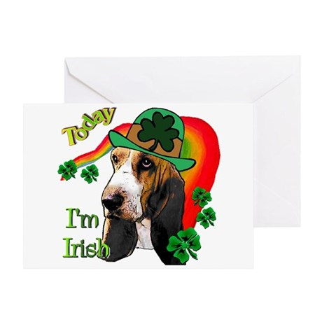 St. Pat's Basset Hound Greeting Card
