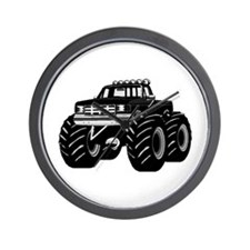 BLACK MONSTER TRUCK Wall Clock