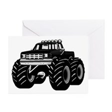 BLACK MONSTER TRUCK Greeting Cards (Pk of 10)