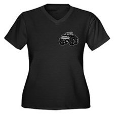BLACK MONSTER TRUCK Women's Plus Size V-Neck Dark
