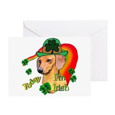 St Pattys Dachshund Greeting Card