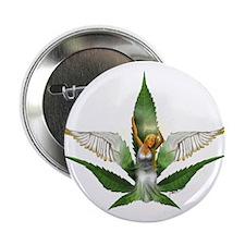 "Sativa Goddess! Marijuana! Hemp! 2.25"" Button (10"