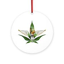 Sativa Goddess! Marijuana! Hemp! Keepsake (Round)
