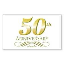 50th Anniversary Rectangle Decal