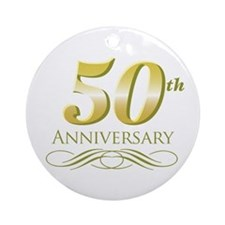 50th Anniversary Ornament (Round)