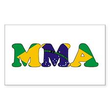 Brazil MMA Rectangle Decal