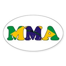 Brazil MMA Oval Decal