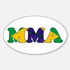Brazil MMA Oval Decal