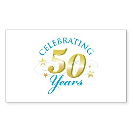 Celebrating 50 Years Rectangle Sticker