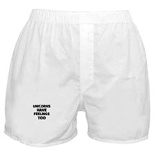 unicorns have feelings too Boxer Shorts