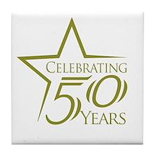 Celebrate 50 Years Tile Coaster