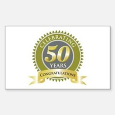 Celebrating 50 Years Rectangle Decal