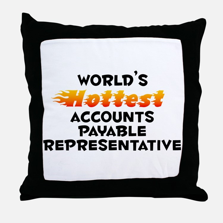 World's Hottest Accou.. (B) Throw Pillow