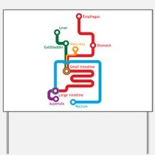Gastrointestinal Subway Map Yard Sign