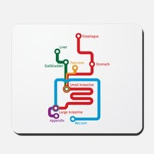 Gastrointestinal Subway Map Mousepad