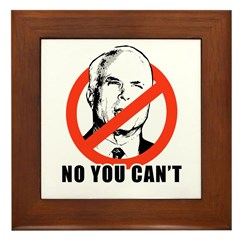 Anti-McCain: No you can't Framed Tile