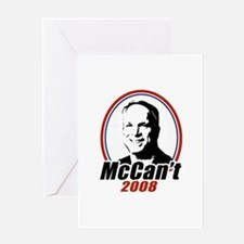 McCan't 2008 Greeting Card