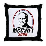 McCan't 2008 Throw Pillow
