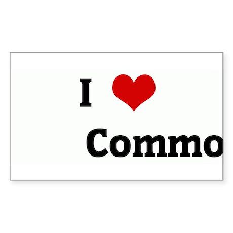 I Love Commo Rectangle Sticker