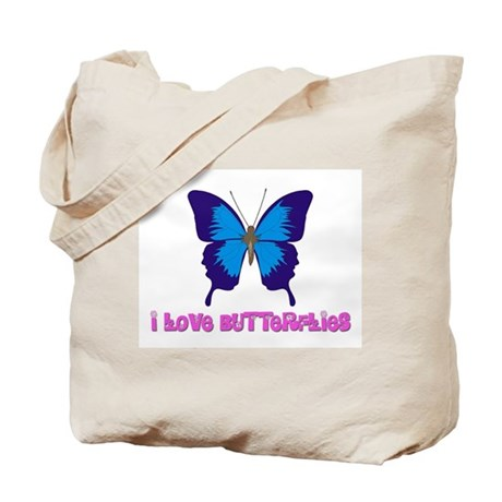 I Love Butterflies Tote Bag