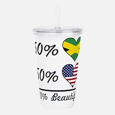 50% Jamaican 50% American 100% Beautiful Acrylic D