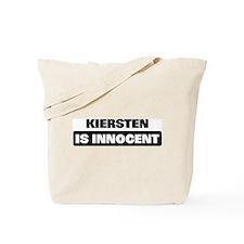 KIERSTEN is innocent Tote Bag