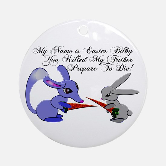 Easter Bilby VS Easter Bunny Ornament (Round)