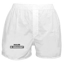 KALEB is innocent Boxer Shorts