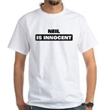 Neil is innocent Mens White T-shirts
