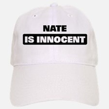 NATE is innocent Baseball Baseball Cap