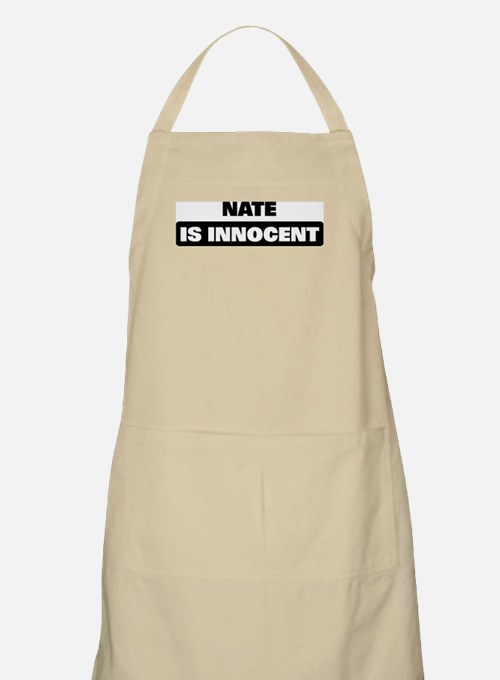NATE is innocent BBQ Apron