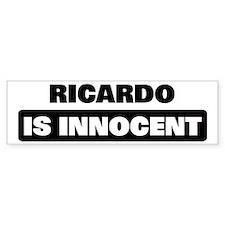 RICARDO is innocent Bumper Bumper Sticker