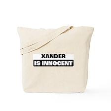XANDER is innocent Tote Bag