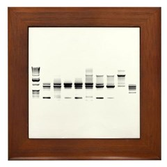 DNA Gel B/W Framed Tile