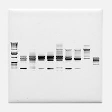 DNA Gel B/W Tile Coaster