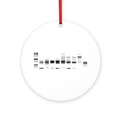DNA Gel B/W Ornament (Round)