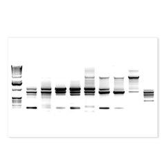 DNA Gel B/W Postcards (Package of 8)