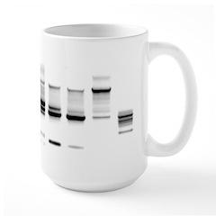 DNA Gel B/W Large Mug