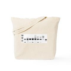 DNA Gel B/W Tote Bag