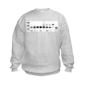 DNA Gel B/W Kids Sweatshirt | Gifts For A Geek | Geek T-Shirts