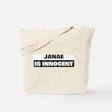 JANAE is innocent Tote Bag