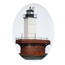 Solomon's Lump Lighthouse Oval Ornament