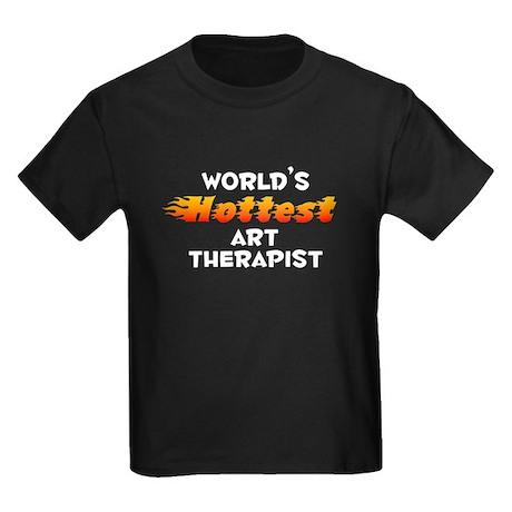 World's Hottest Art t.. (A) Kids Dark T-Shirt